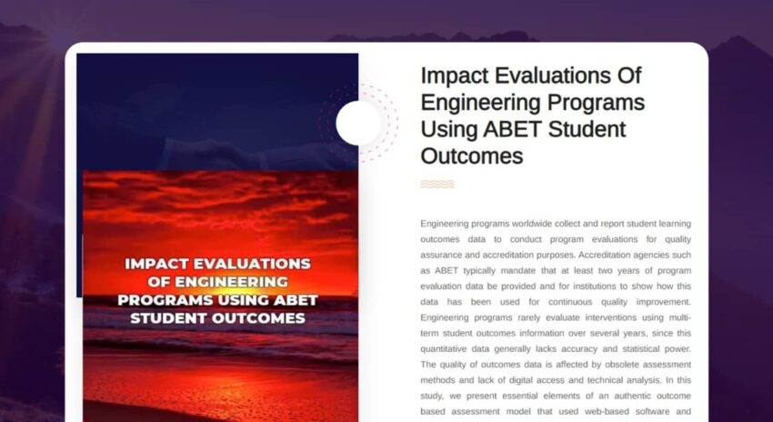 Impact Evaluations of Engineering Programs Using ABET Student Outcomes
